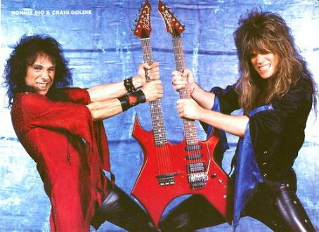Ronnie James Dio (left) and Craig Goldy (right) - Photo by Mark Weiss