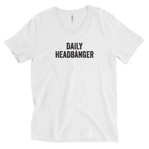 Daily Headbanger Logo V-neck T-Shirt