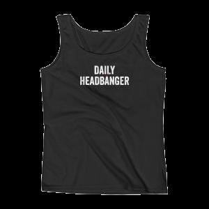 Daily Headbanger Logo Ladies Tank Top T-Shirt