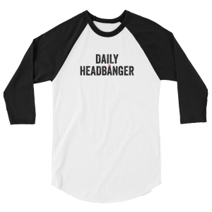 Daily Headbanger Logo 3/4 Sleeve Baseball Shirt