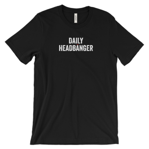 Daily Headbanger Logo Crew Neck T-Shirt