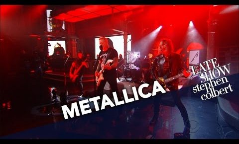 Metallica Performs 'Now That We're Dead' on Late Show with Steven Colbert