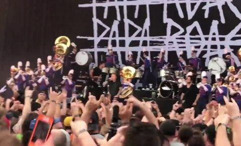 Papa Roach Perform With High School Marching Band at Rock on the Range