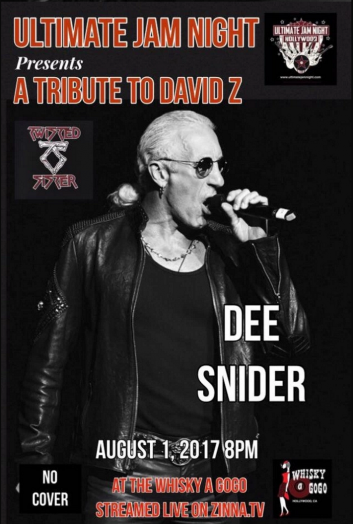 Dee Snider Tribute To David Z at Ultimate Jam Night in LA