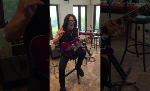 Paul Stanley Rockin' his new Limited Purple Sparkle Ibanez