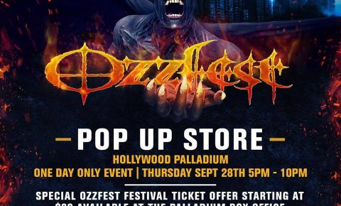 OzzFest PopUp Store – One Day Only Thursday Sept 28  in Hollywood, CA